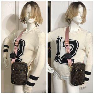 Louis Vuitton Monogram Danube Crossbody Bag-Black